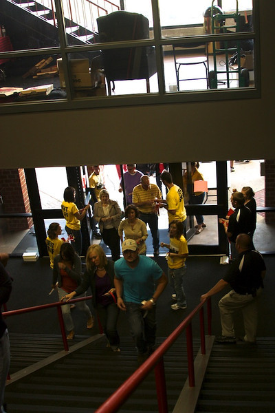 Fans enter the Needtobreathe Concert on Saturday April, 28th