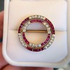 2.90ctw French Ruby and Diamond Brooch, by La Cloche Fres of Paris 6