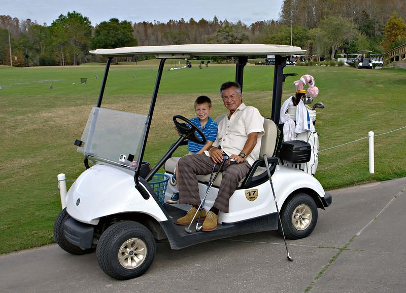 Alan K with his golfer Grandson