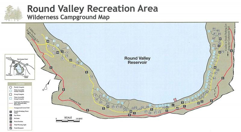Round Valley Recreation Area (Wilderness Campground Map)