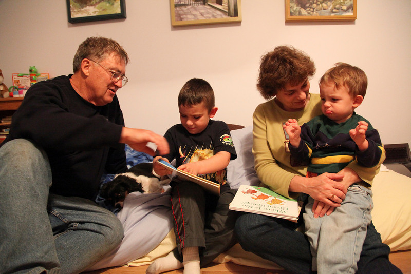 The kids read books and Tom and Cathy David's house in Mattoon, Illinois on Saturday, November 20, 2010.  (Jay Grabiec)