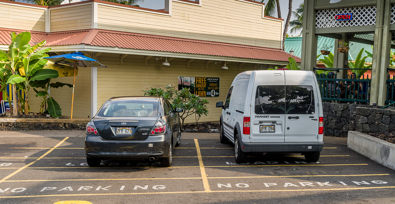 No parking with 2 cars