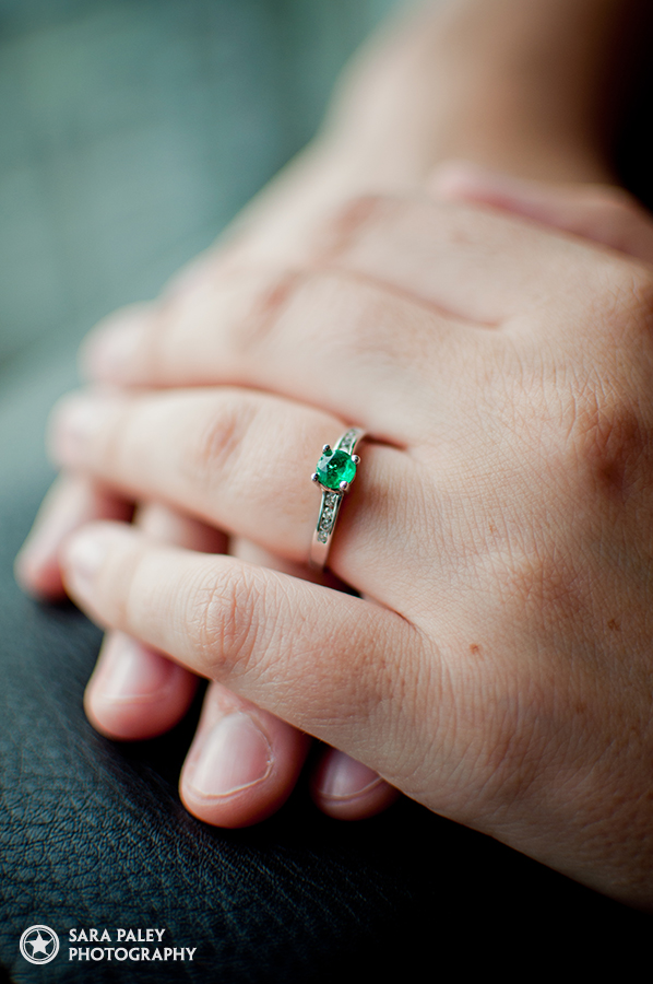 bride to be, engaged, emerald ring