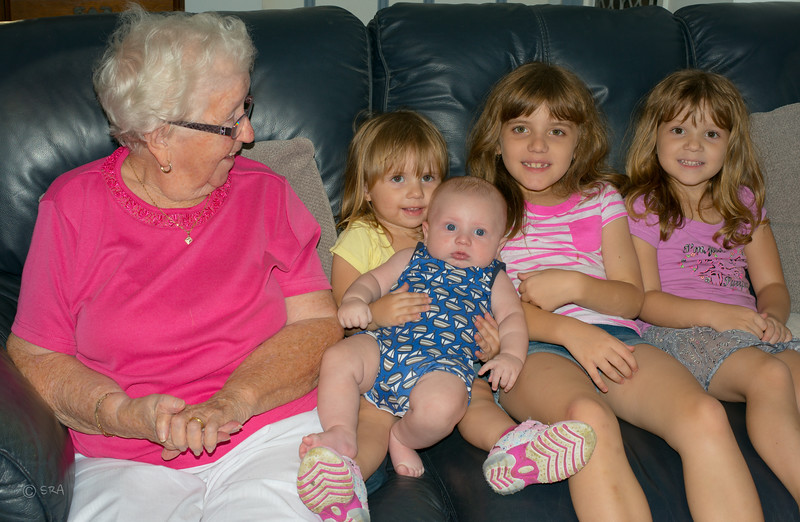 Gran with Paige, Michael, Emma and Katy