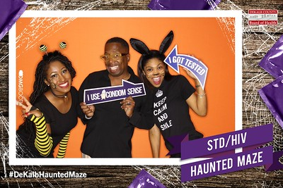 2016.10.29 STD/HIV Haunted Maze by Dekalb County Health Department