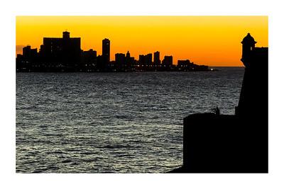 Havana: el Malecón (the sea wall), and the Bay