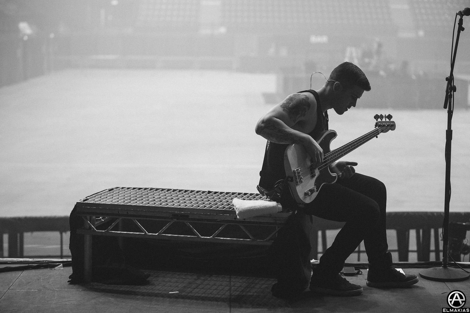 Zack Merrick taking a break from rehersals