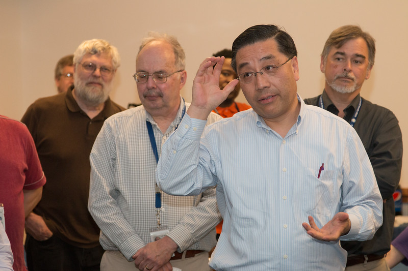 Will Zhang offers remarks --Retirement party for Peter Serlemitsos from NASA/GSFC after 55 years. -- April 27, 2017 -- NASA/Goddard Space Flight Center, Greenbelt, MD