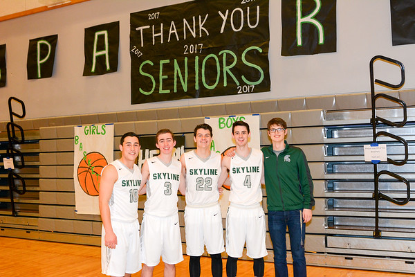 Boys Senior Night vs Eastlake, 02-03-17