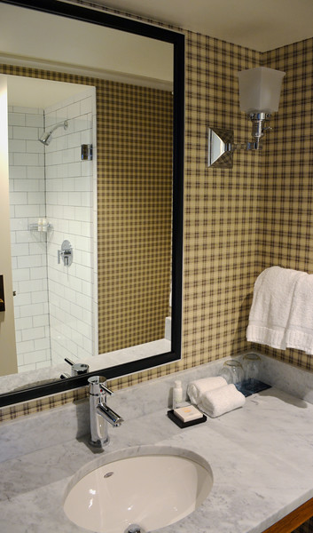 Bathroom at the the Taconic Hotel in Manchester, VT