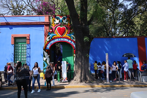 Outside the Frida museum