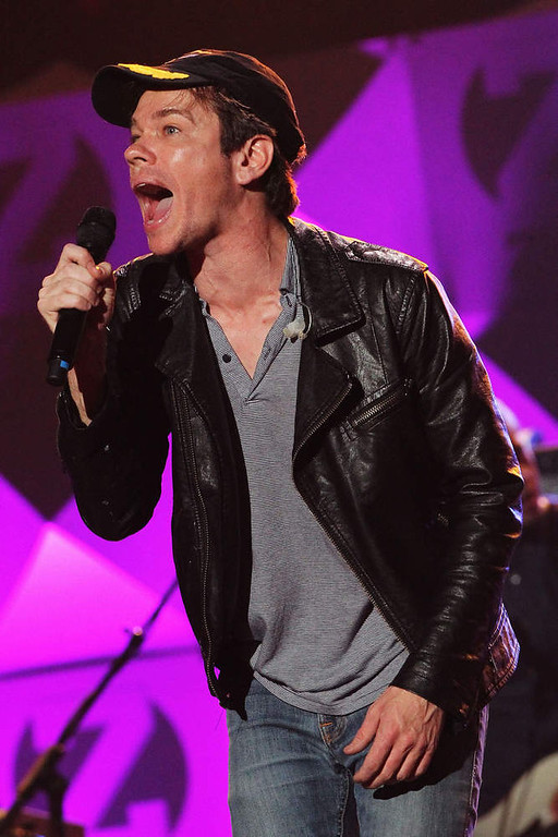 . Nate Ruess of Fun. performs onstage during Z100\'s Jingle Ball 2012, presented by Aeropostale, at Madison Square Garden on December 7, 2012 in New York City.  (Photo by Kevin Kane/Getty Images for Jingle Ball 2012)