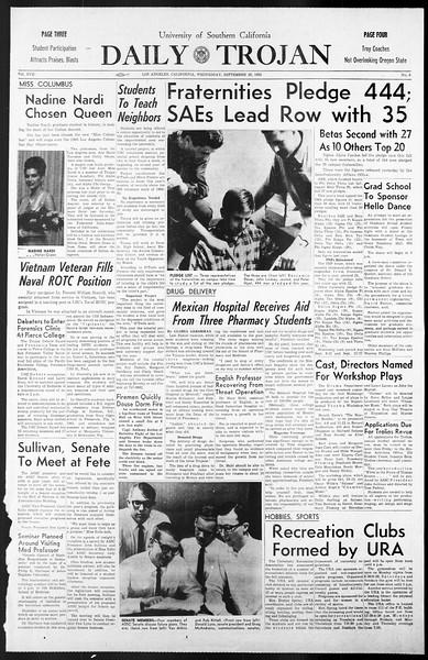 Daily Trojan, Vol. 57, No. 8, September 29, 1965