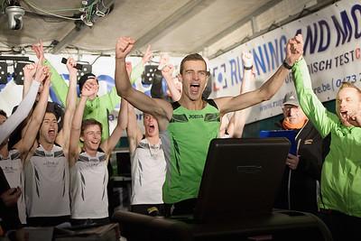 Guinness Wereldrecordpoging 100km loopband voor teams 2013