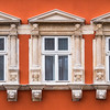 Windows in Red, Lviv, Ukraine