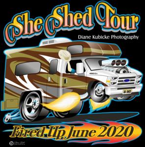 SheShed Tour Shirts