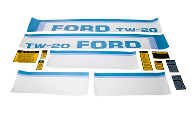 FORD TW 20 SERIES BONNET DECAL SET