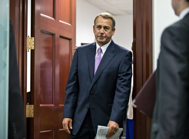 ". <p>4. (tie) JOHN BOEHNER <p>If you thought he got weepy before ... (unranked) <p><b><a href=\'http://www.cbsnews.com/8301-250_162-57606243/boehner-not-enough-votes-for-clean-spending-bill-to-end-shutdown/\' target=""_blank\""> HUH?</a></b> <p>    (AP Photo/J. Scott Applewhite)"