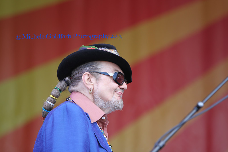Dr. John and The Nite Trippers at Acura Stage first day of Jazz Fest 2013