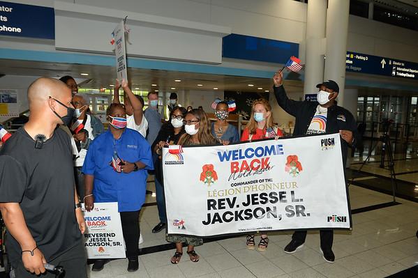 Rev. Jesse L. Jackson Sr., Return Home from France  07212021