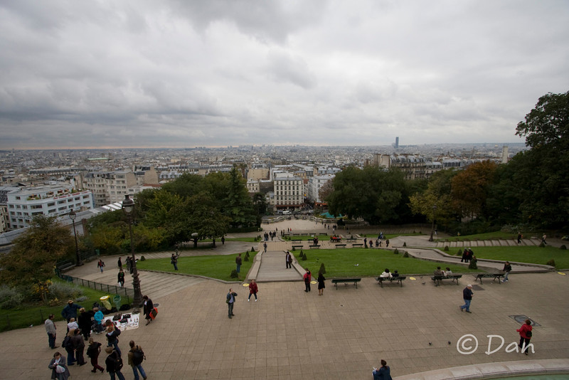 The view from the top of the Sacre Coeur