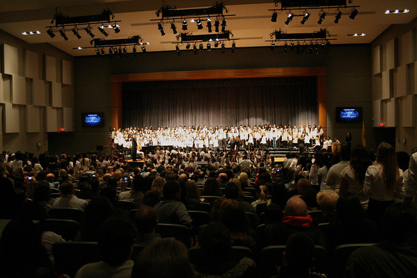 MTHS Choral Festival with choirs from Brookside, Woodland, the Middleschool, and MTHS, Feb 28th, 2013