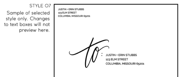 Envelope Return Address Styles