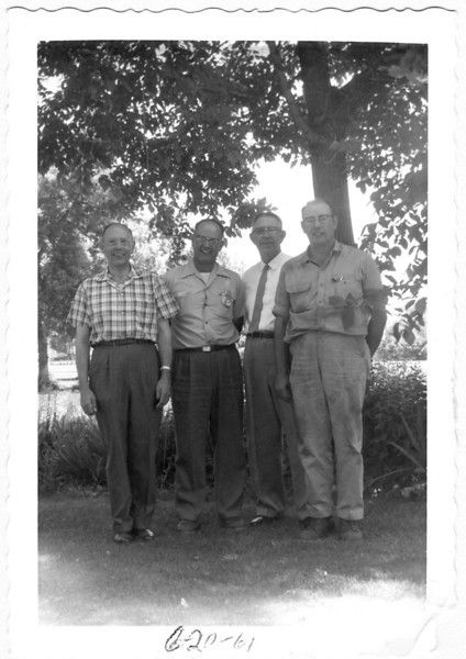 June 20, 1961. 3rd from left is Alonzo Turner. The two next to him are probably Glen and Paul Turner - ?