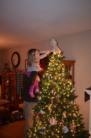 Putting the Angel on the Tree - Dec. 2013