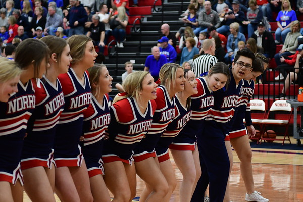 Cheer at Varsity Basketball vs Bennington