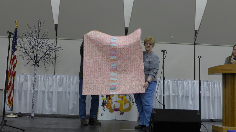 Back of the quilt by Peg Largo