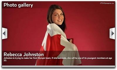 Rebecca Johnston Olympics'10