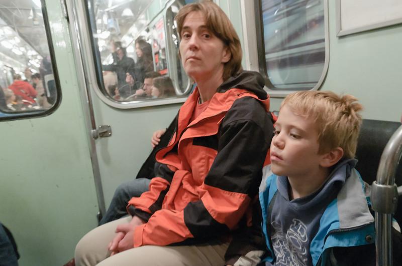 Natürlich haben wir auch in Budapest die Öffis getestet. Hier die Metro.