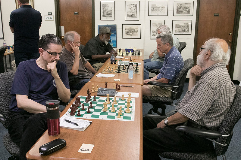 The Wachusett Chess Club held the Rocco R. Pasquale Memorial chess tournaments on Wednesday, September 4, 2019 at Fitchburg State University's McKay Campus School. SENTINEL & ENTERPRISE/JOHN LOVE