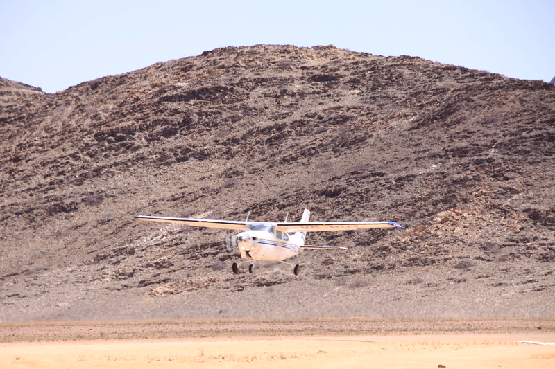 Our Cessna 210 bush plane