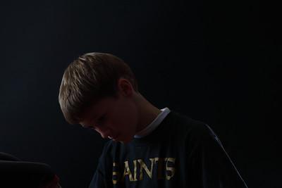 Boys portrait light experiments