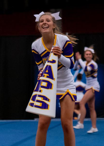 Broughton cheerleading Pre-States. November 16, 2019. D4S_1742