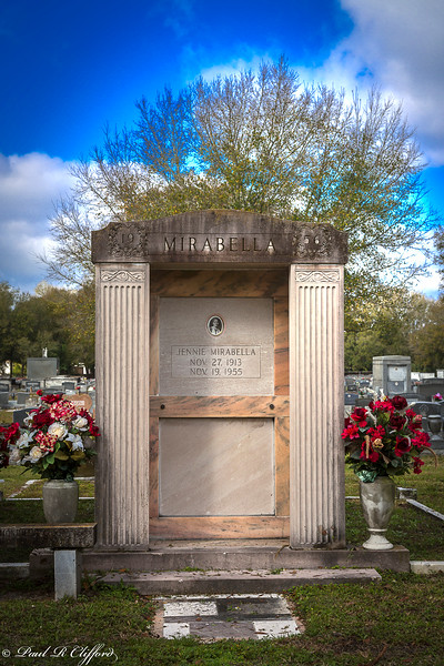 Mausoleum with Flowers at Tampa Cemetary 6896 E P C1.jpg
