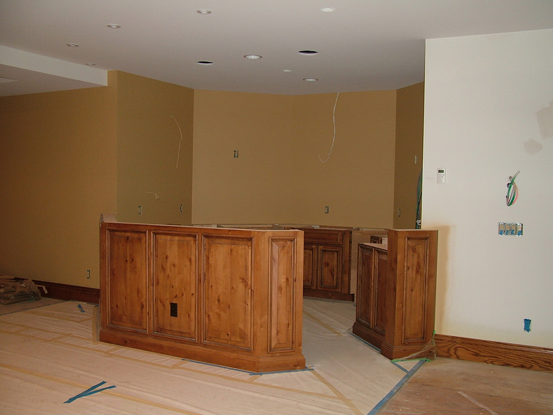 Cabinets in bar area