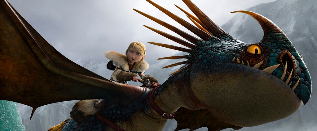 """. This image released by DreamWorks Animation shows the character Astrid, voiced by America Ferrera, in a scene from \""""Hot To Train Your Dragon 2.\"""" The film was nominated for a Golden Globe for best animated feature on Thursday, Dec. 11, 2014. The 72nd annual Golden Globe awards will air on NBC on Sunday, Jan. 11. (AP Photo/DreamWorks Animation)"""