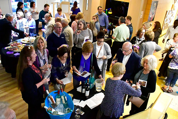 5/3/2019 Mike Orazzi | Staff Part of the crowd during the From the Vine wine tasting event at the Imagine Nation Museum Early Learning Center Friday evening.