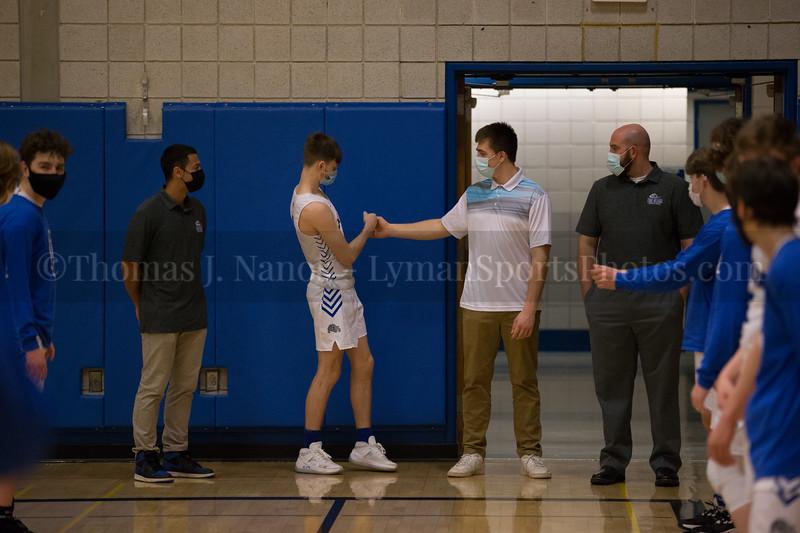 lyman Memorial High School Boys Basketball vs Tourtellotte - Senior Night (Varsity)