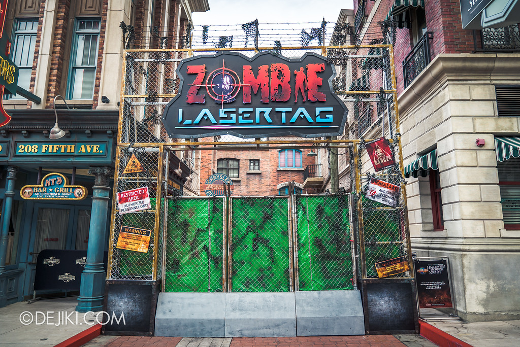 Halloween Horror Nights 7 Before Dark 5 Construction Preview - Zombie Laser Tag entrance