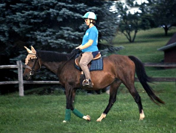 Donna and her TB rescue, Mystic Rose (registered as Tough Beginnings).