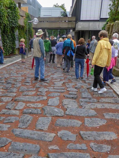 We walked on a 2,000 year old Roman road.