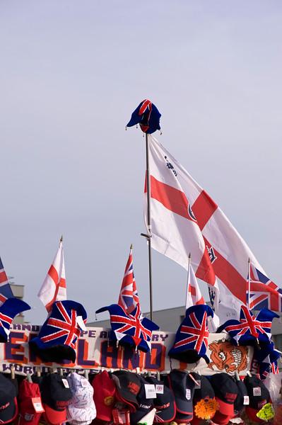 Eanglish flag on souvenir stall, London, United Kingdom