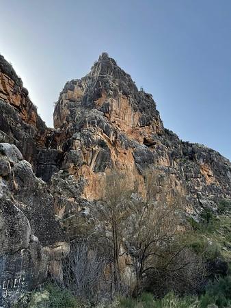 Climbing at Raja de Alicun 4 March 2021