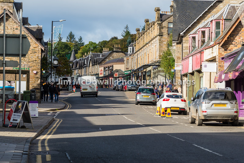 Busy Main Street Pitlochry Scotland