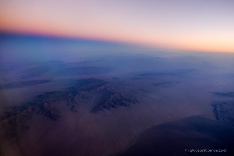 Earth's shadow over Nevada
