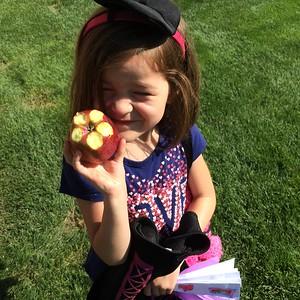 The girls love Apples..